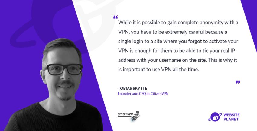Interview with Tobias Skytte, CitizenVPN