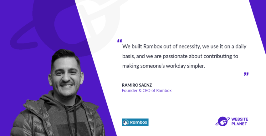 Rambox - a workspace browser that allows you to manage as many applications as you want, all in one place