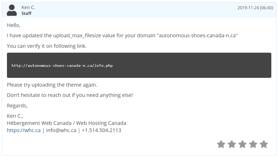 [Web Hosting Canada] - [Support Chat]