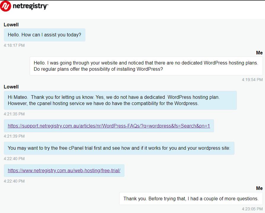 [Crazy Domain] - [Live chat]
