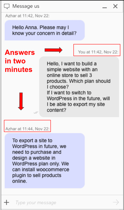 GoDaddy support live chat popup