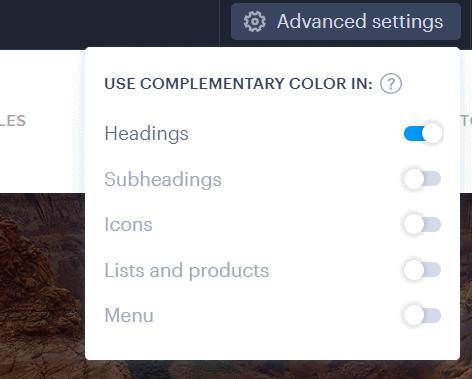 Webnode editor