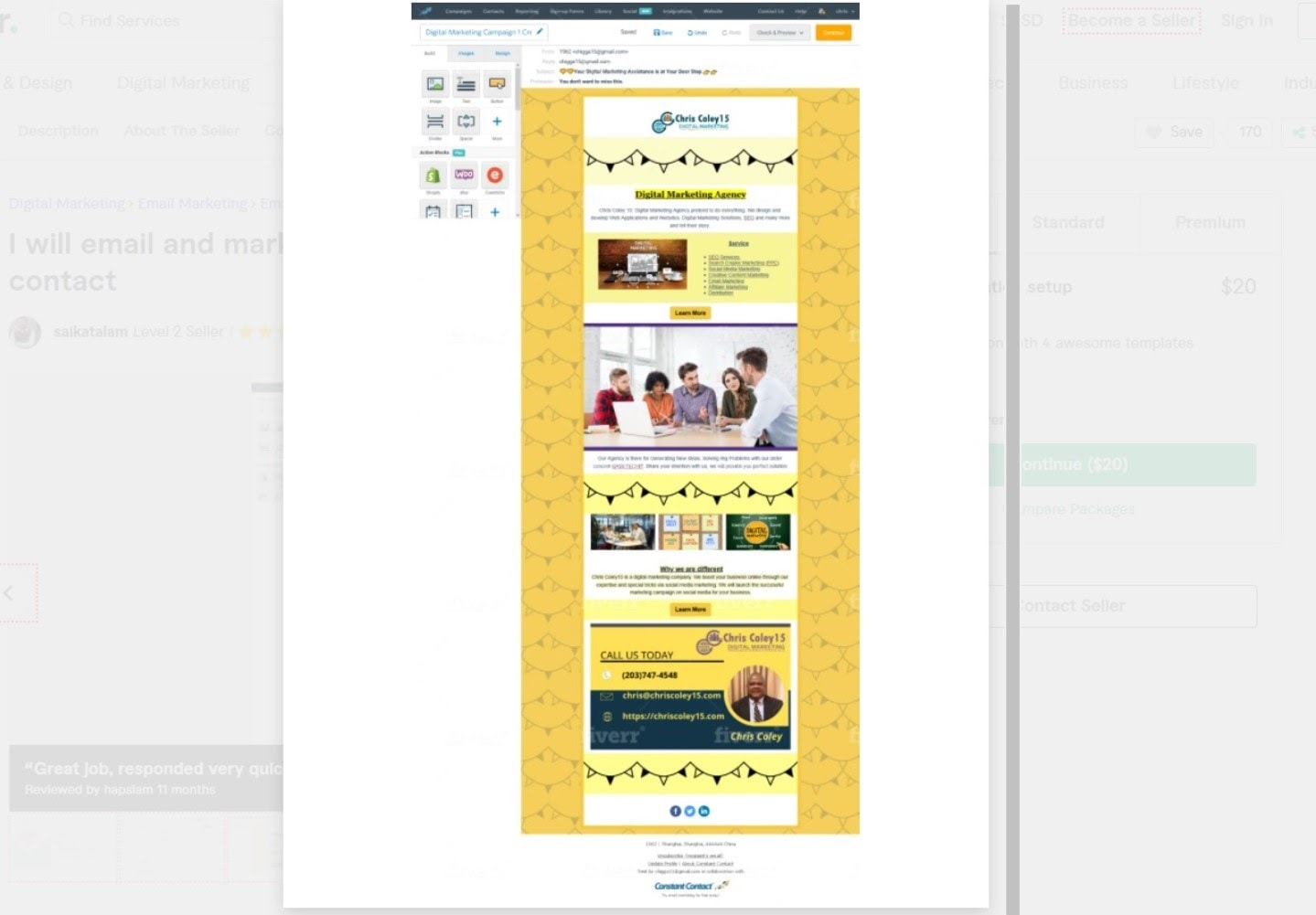 Saikatalam Constant Contact template example