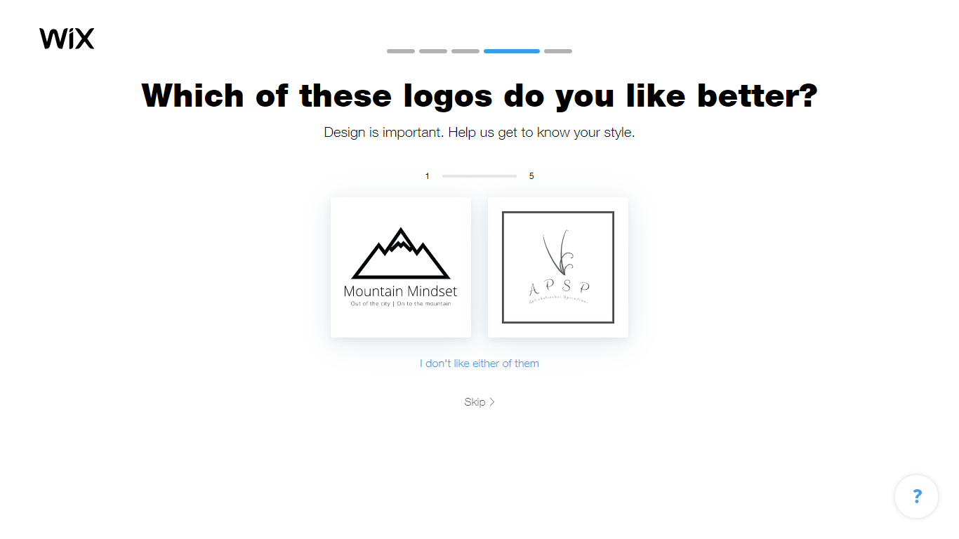 Wix Logo Maker screenshot - look & feel