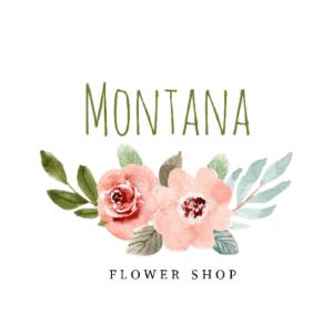 Handwritten logo - Montana Flower Shop