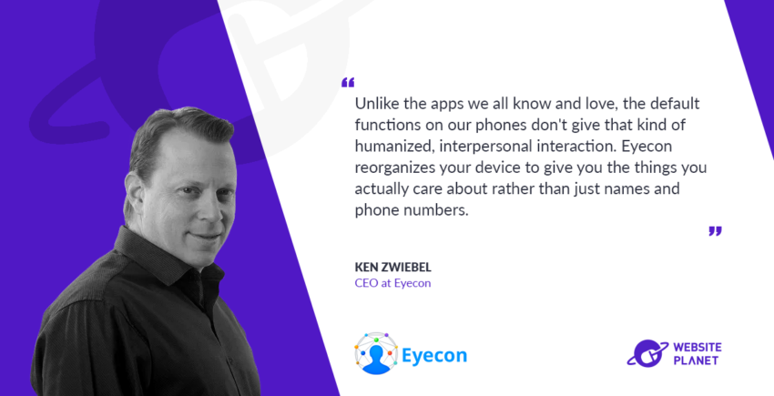Interview with Eyecon CEO Ken Zwiebel
