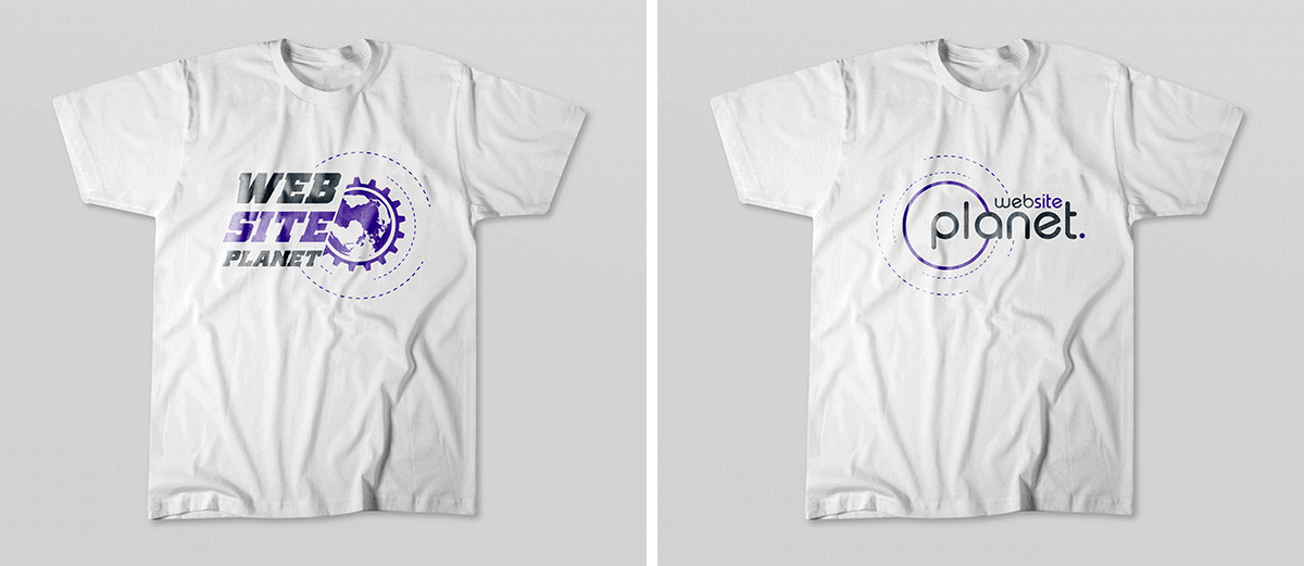 Fiverr seller Christy_anasraj's $25 T-shirt logo designs, examples 1 and 2