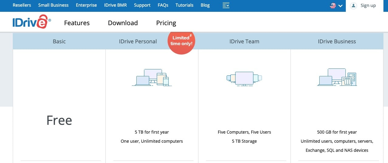 IDrive Plans & Pricing options