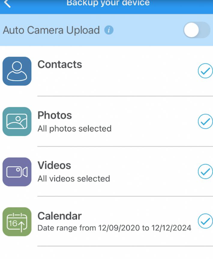 iDrive backup app