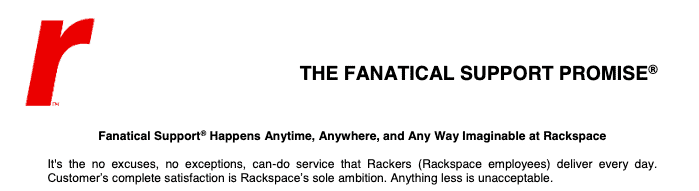 Rackspace's 'Fanatic Support' promise