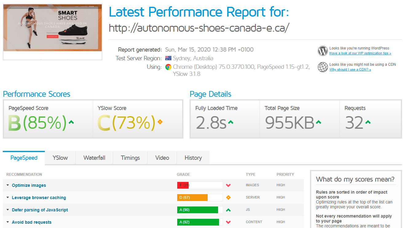 [HostPapa] - [GTMatrix performance test]