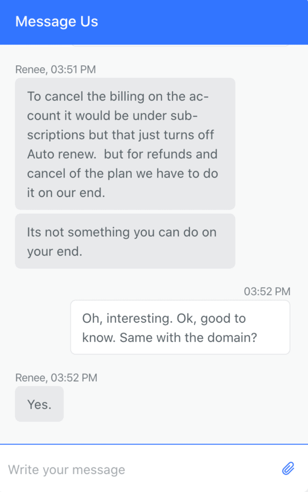 Weebly - customer support chat