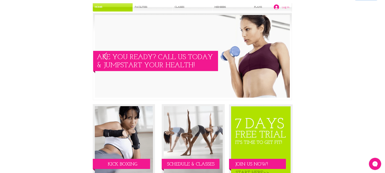 Wix gym template