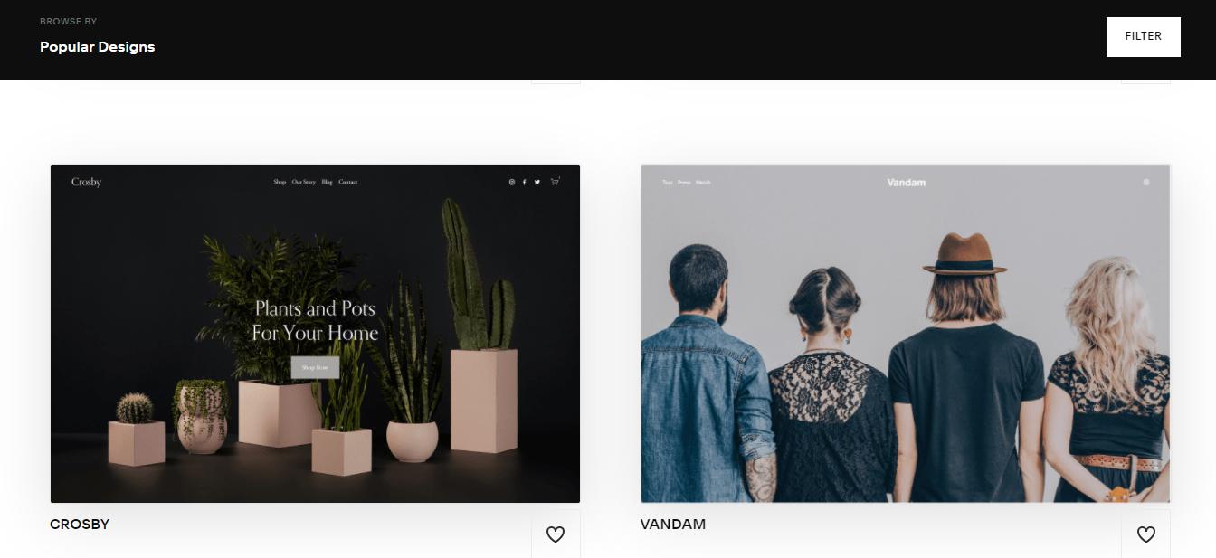 Squarespace Popular Designs