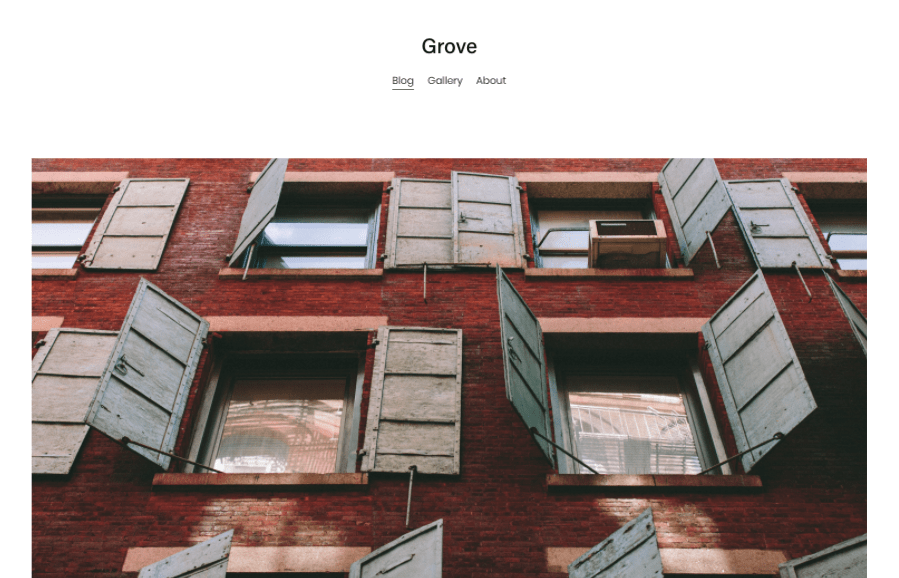 Grove Squarespace template