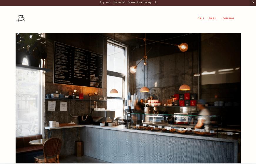 Blend Squarespace website template for restaurants