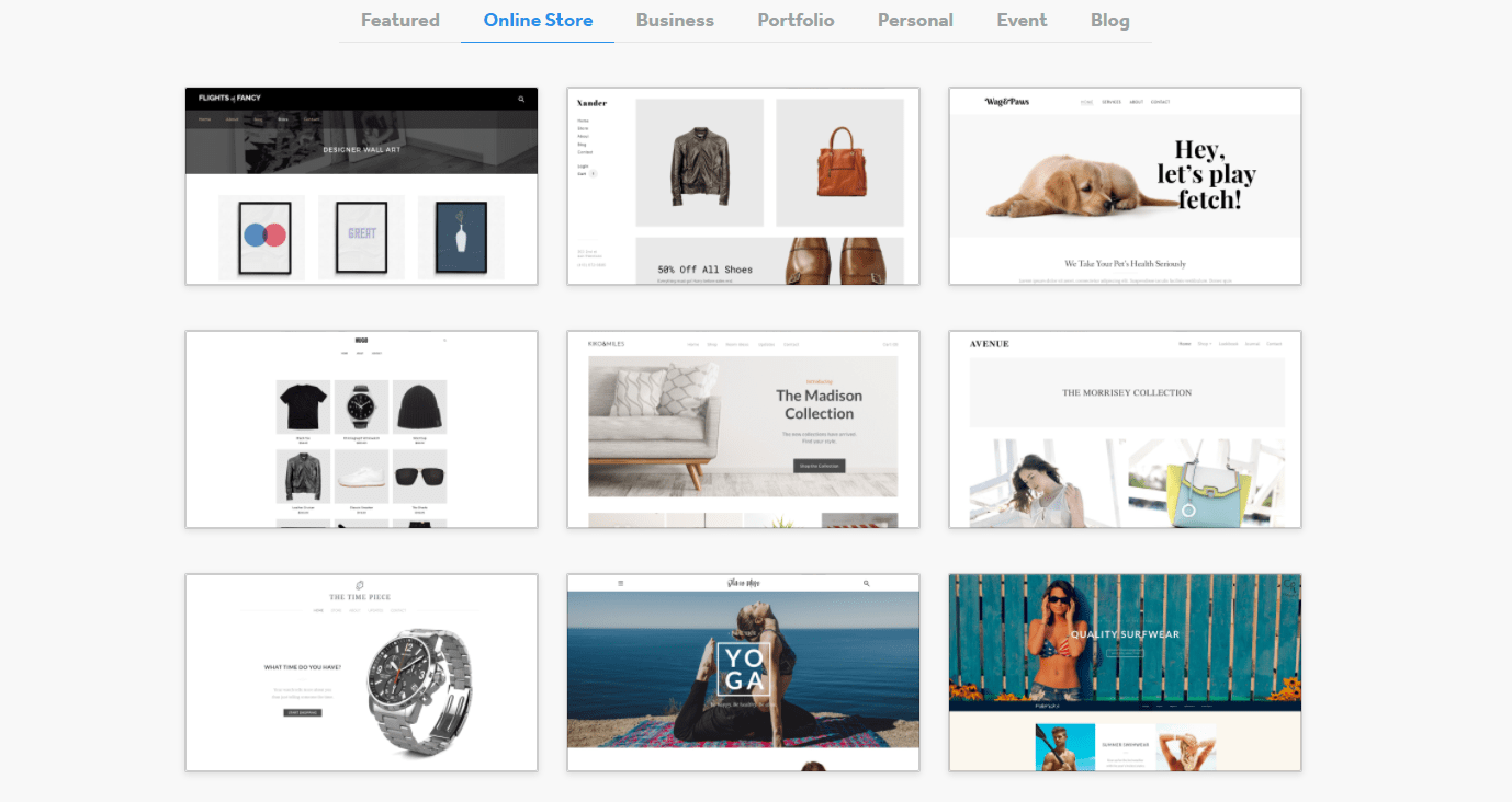 Weebly online store themes