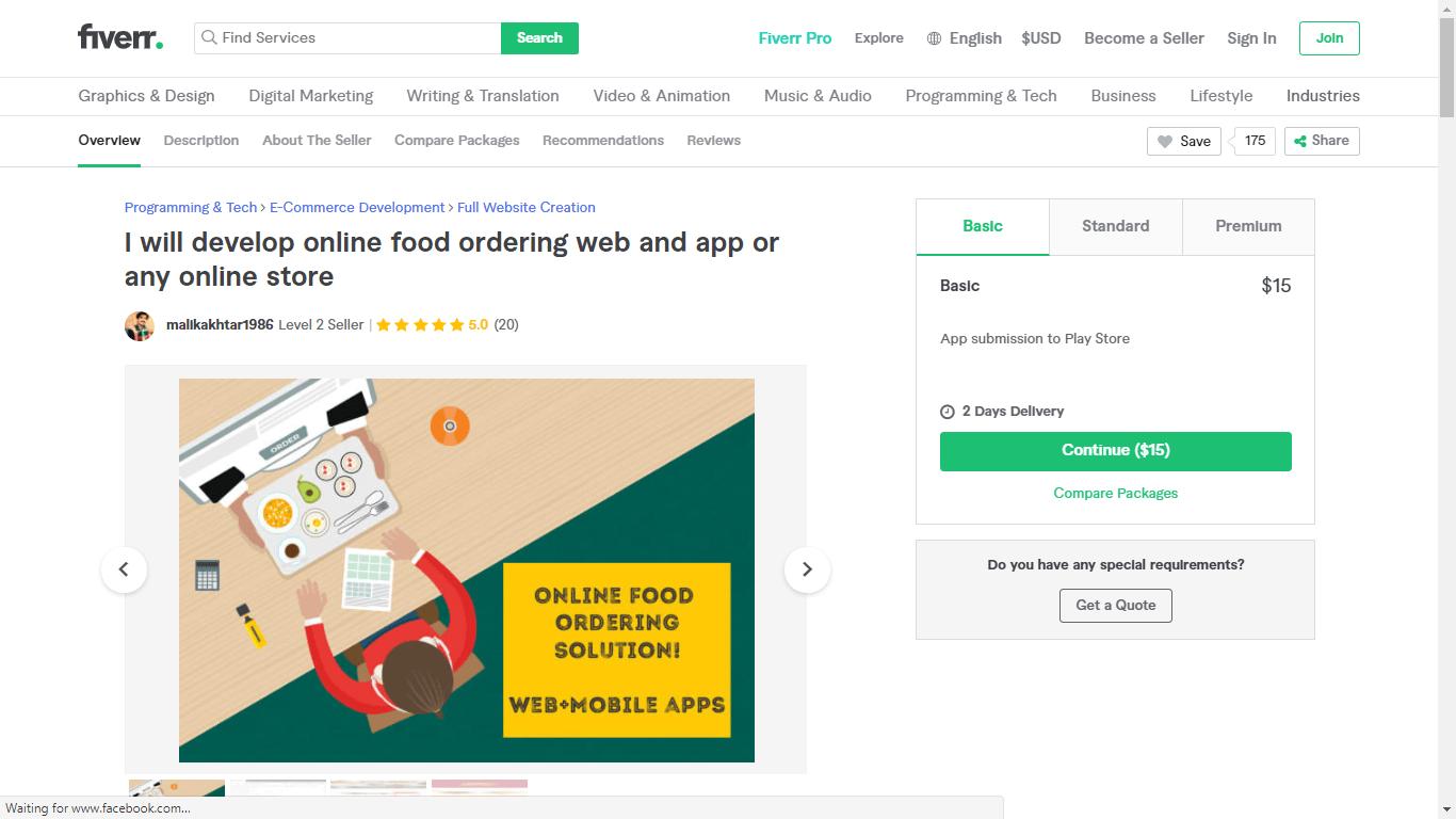 Fiverr screenshot - Malikakhtar1986 Android app developer gig