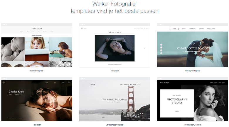 Wix photography templates