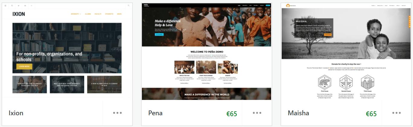 WordPress nonprofit themes