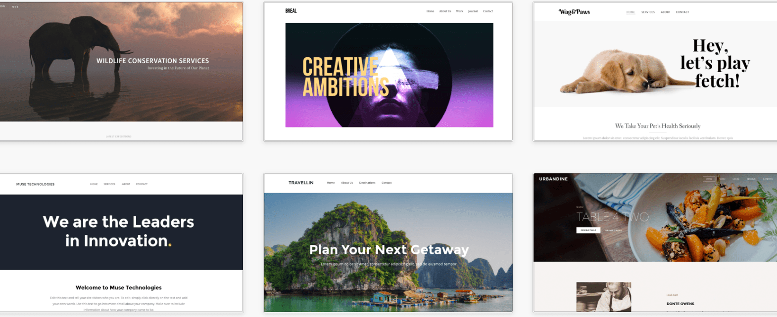 Weebly business templates
