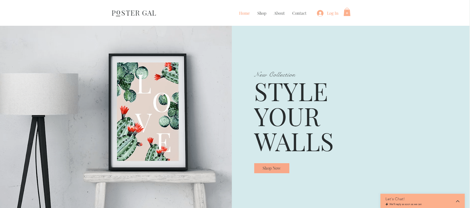 Wix Poster Shop Template