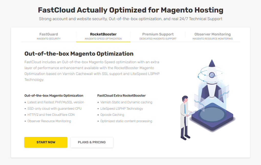 FastComet cloud hosting for Magento