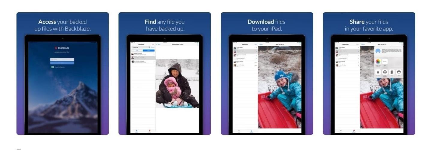 The Backblaze mobile app