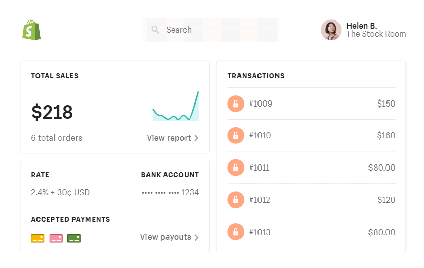 Shopify payments central dashboard