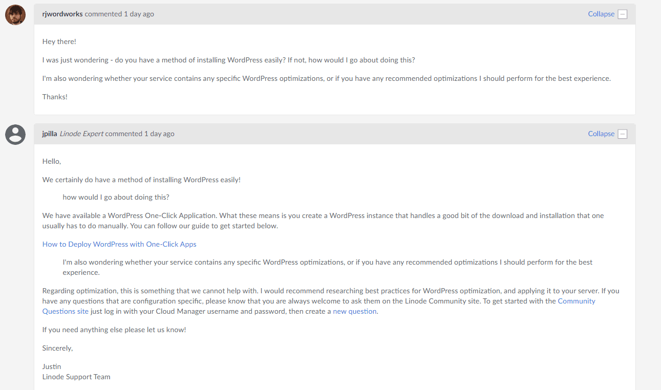 Linode email support