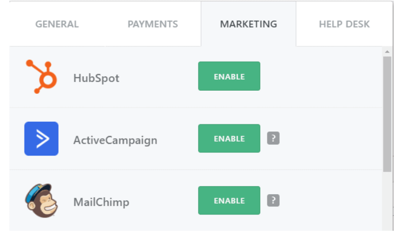 FormCrafts Email Marketing Add-ons