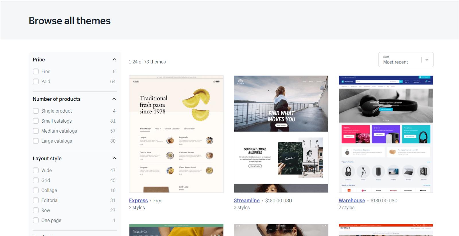 Shopify theme library