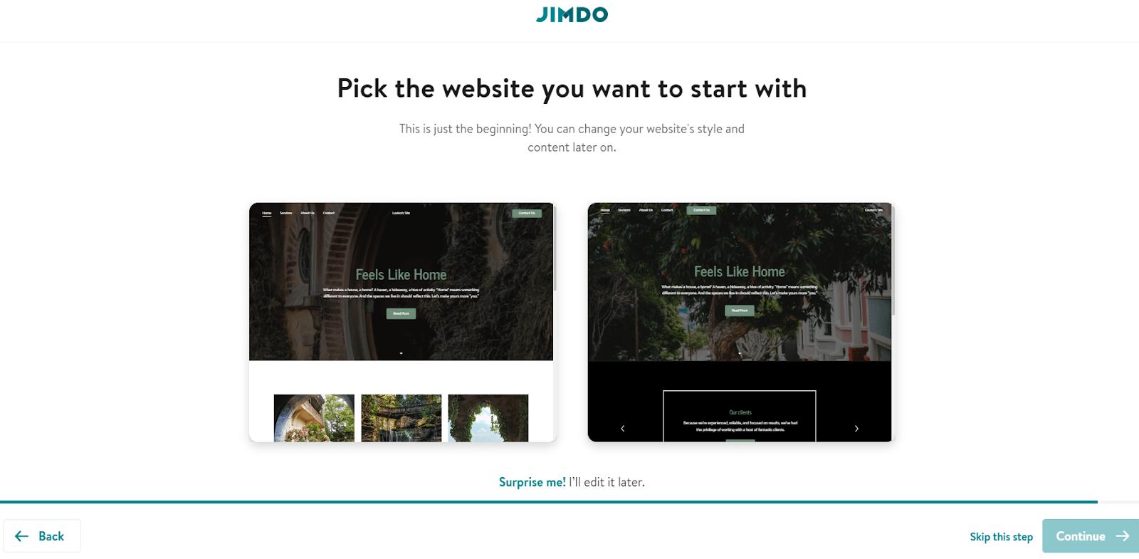 Jimdo Dolphin website designs