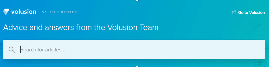 Volusion help center