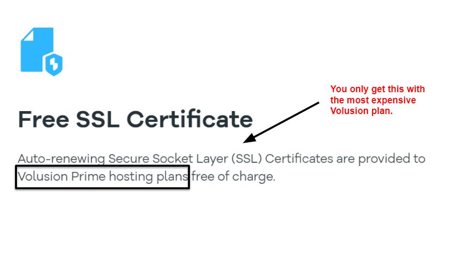 Volusion ssl certificate