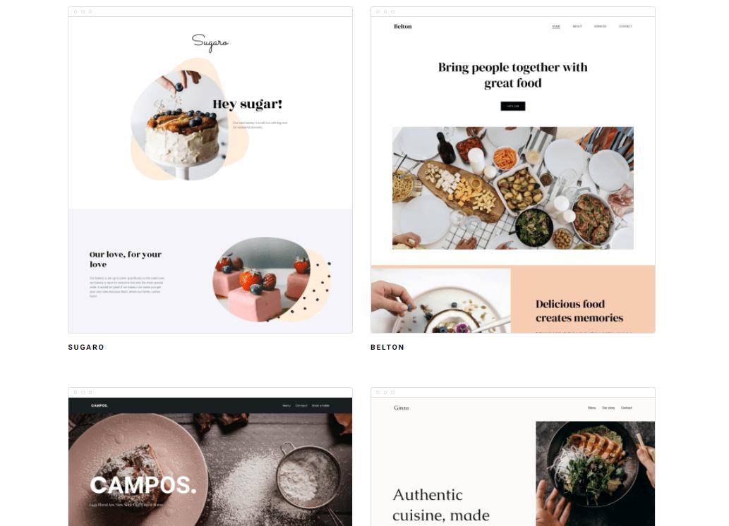 Zyro restaurant templates