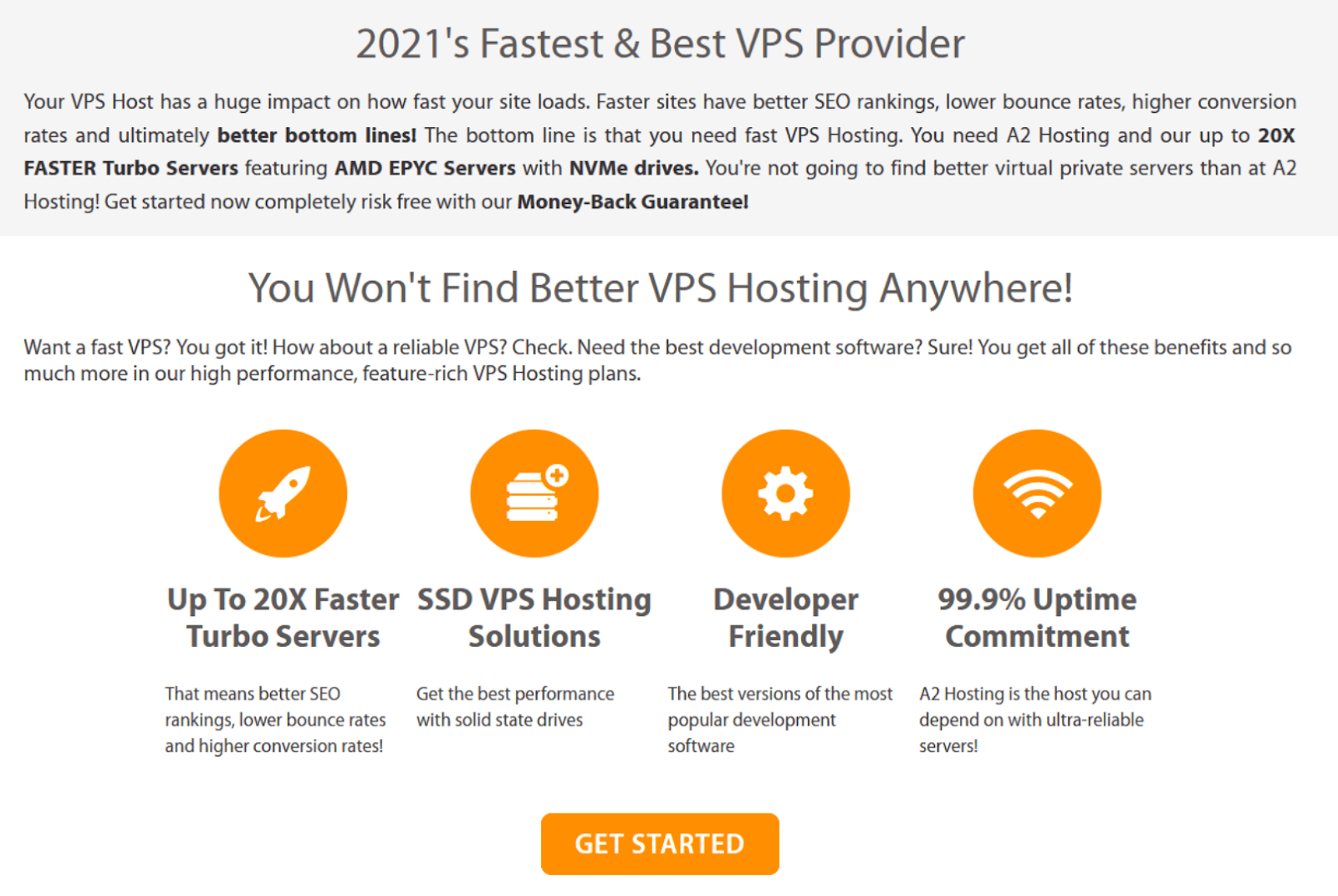 A2 Hosting - VPS hosting features
