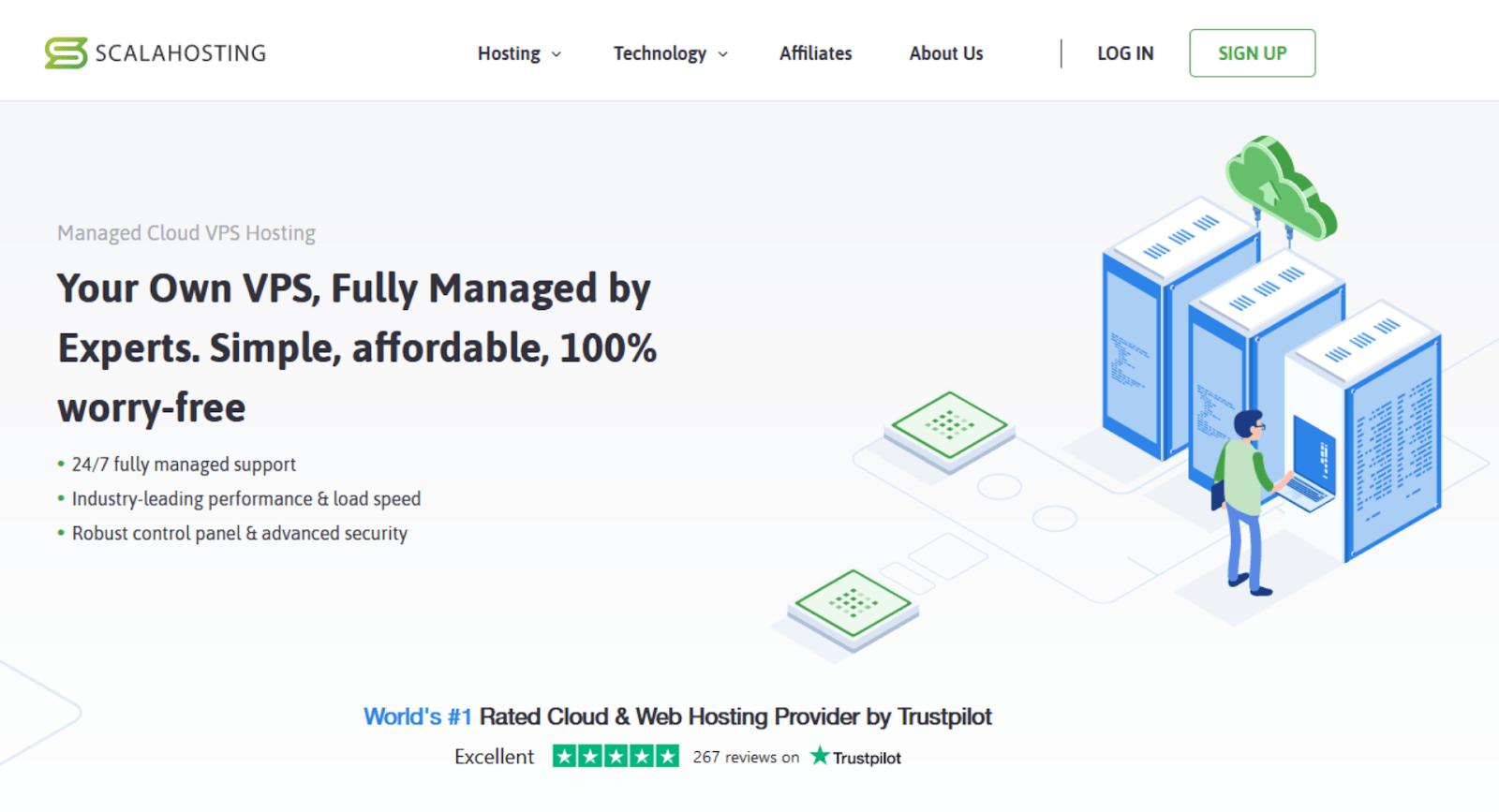 Scala Hosting - managed VPS hosting