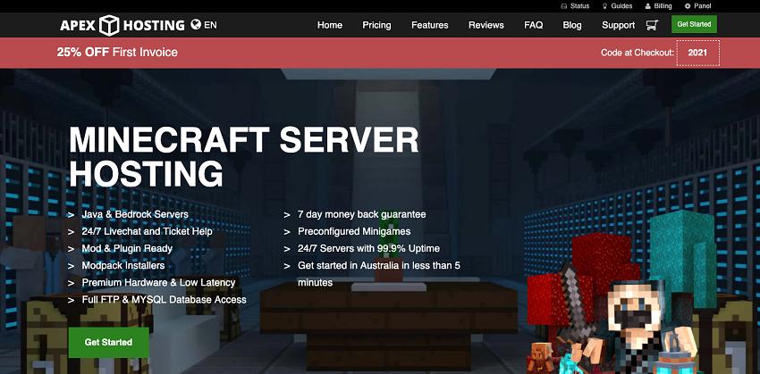 Apex Hosting - Minecraft hosting