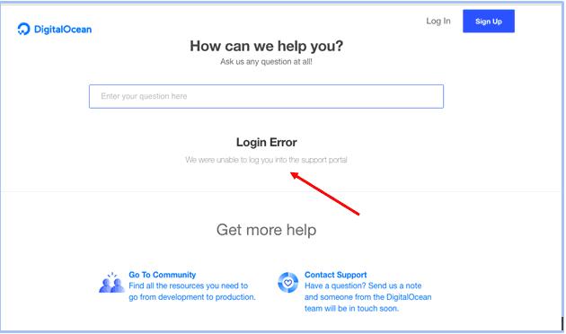 DigitalOcean - customer support