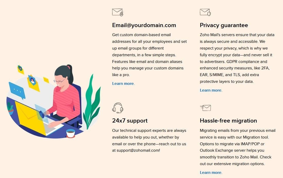 Zoho Mail - Free email features