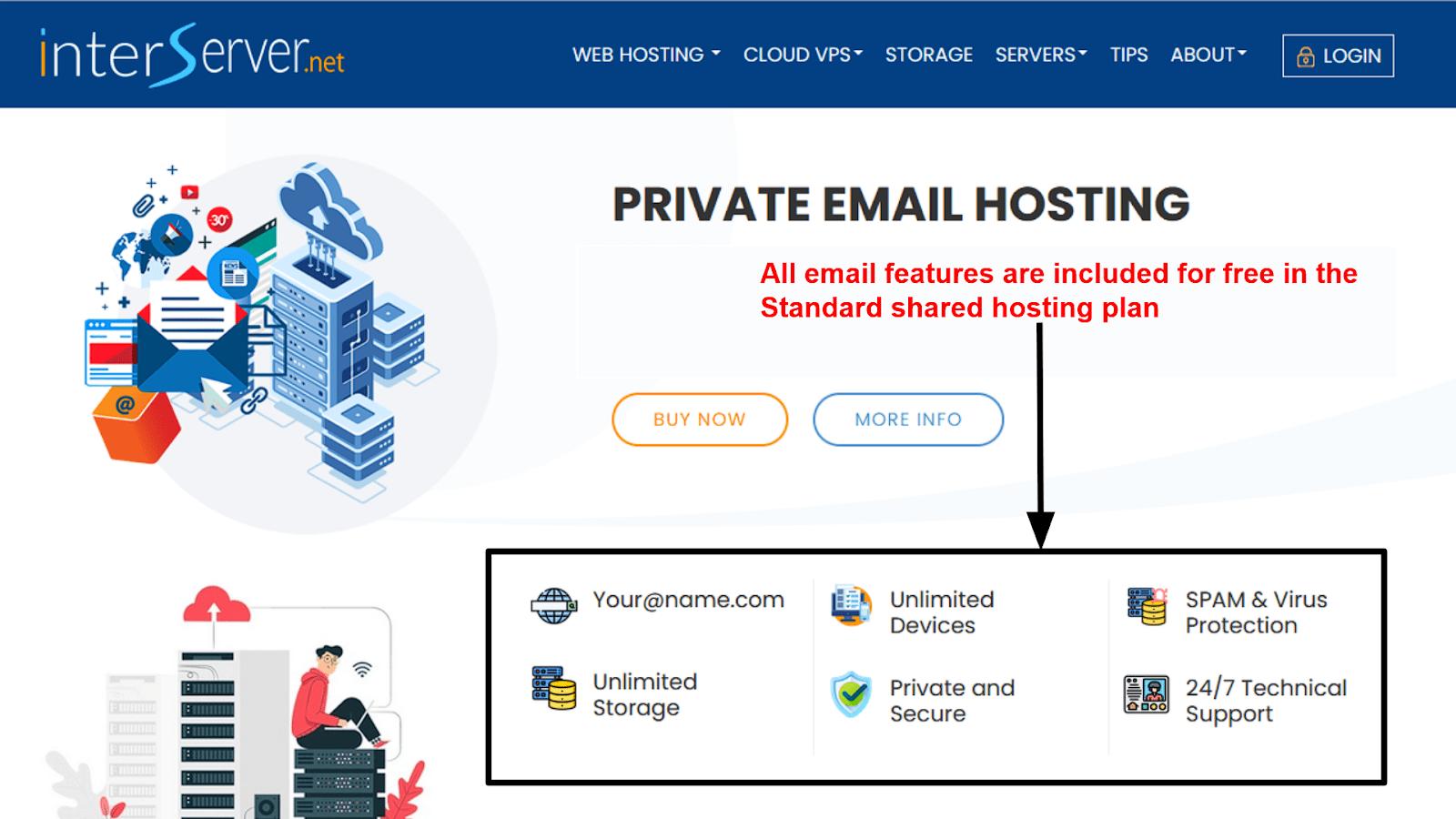 InterServer - email hosting
