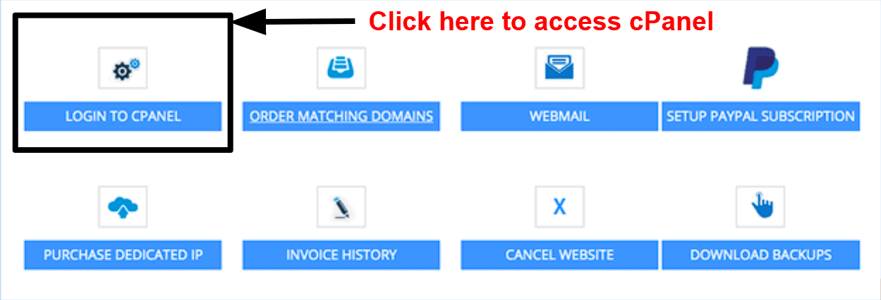 InterServer - cPanel access