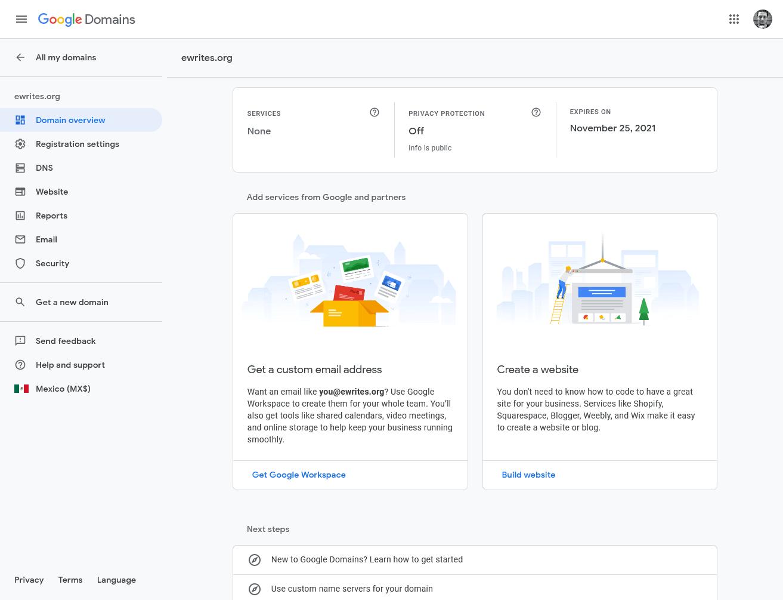 Google Domains Review 2020