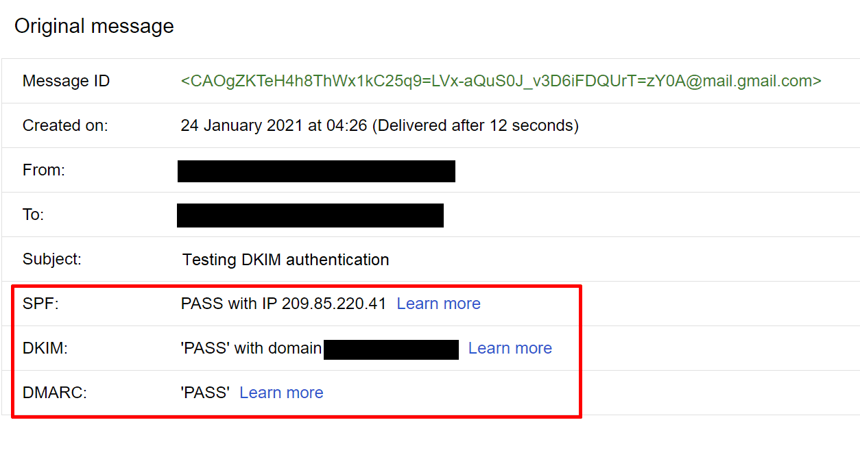 DKIM-authenticated account
