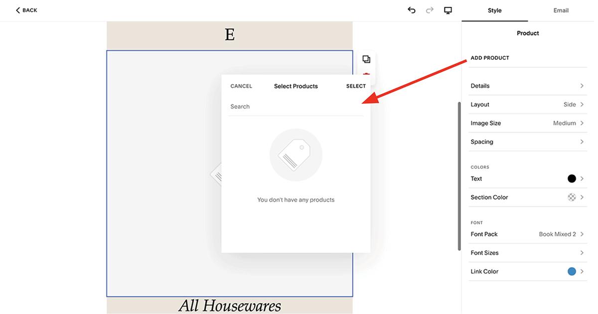 Squarespace Email Campaigns – e-commerce integration