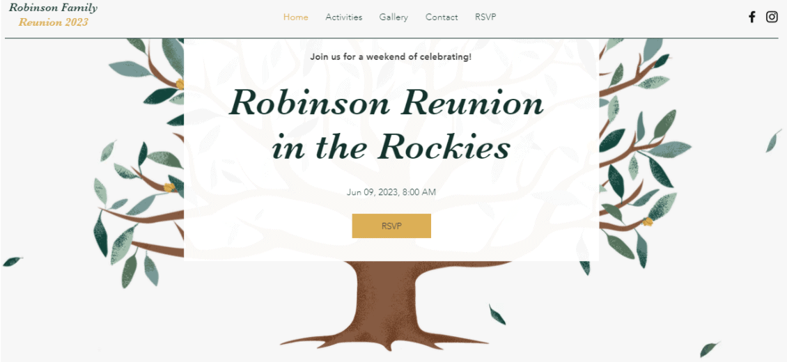 Wix Family Reunion Template