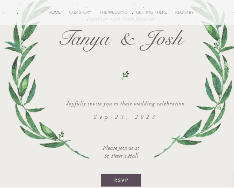 Wix Elegant Wedding Invitation Template