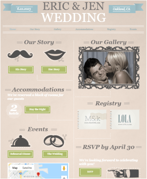 Wix Funky Engagement Template