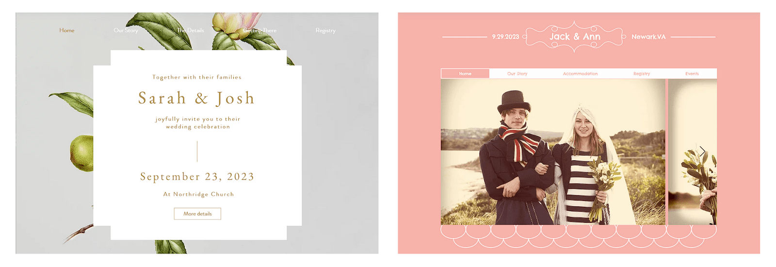 Wix wedding templates I don't like